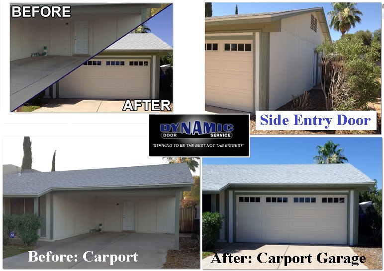 Carport Conversions Dynamic Door Service Today Phoenix Az
