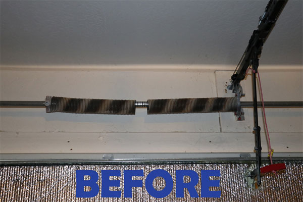 Garage Door Spring Repair Before